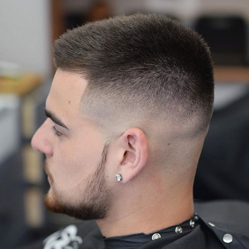 a high fade haircut is a fresh and modenr option of a military haircut, which doesn't require much maintenance