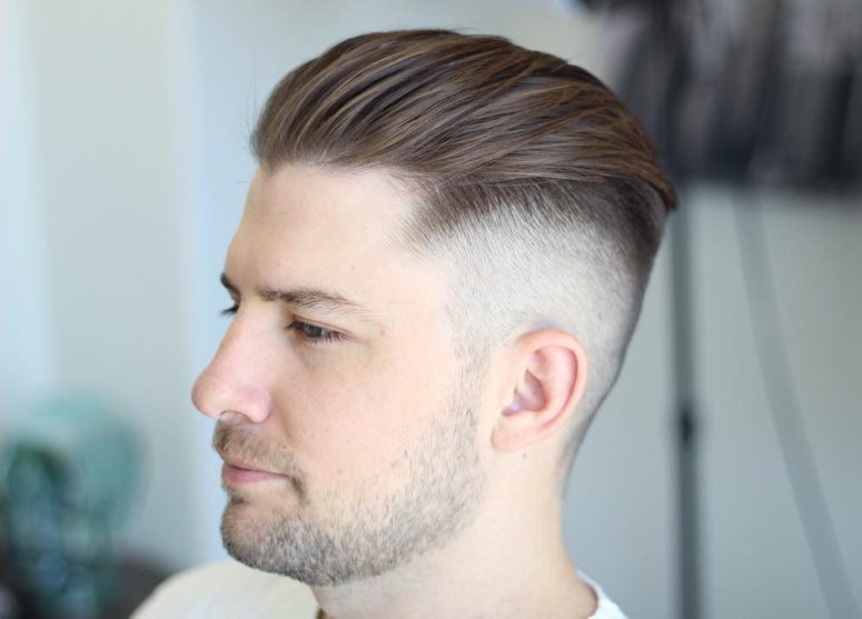 a short undercut with high skin fade is an ultra-modern option that requires some styling with a dryer