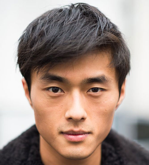 a textured short Asian haircut is a cool way to look natural and a bit messy