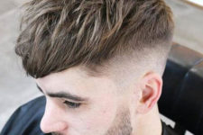 06 a messy undercut haircut is a chic idea with much texture and is very easy to style