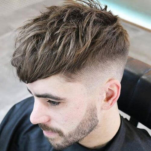 a messy undercut haircut is a chic idea with much texture and is very easy to style