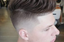 07 a messy textured quiff is a popular undercut idea, it's classics with a modern twist