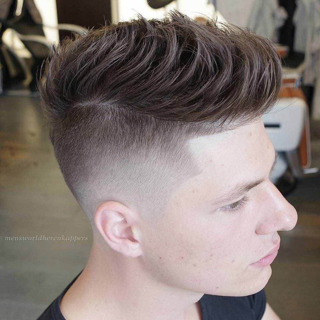 a messy textured quiff is a popular undercut idea, it's classics with a modern twist