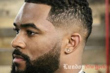 07 edge up and a high-low fade features some texture though the hair is pretty short