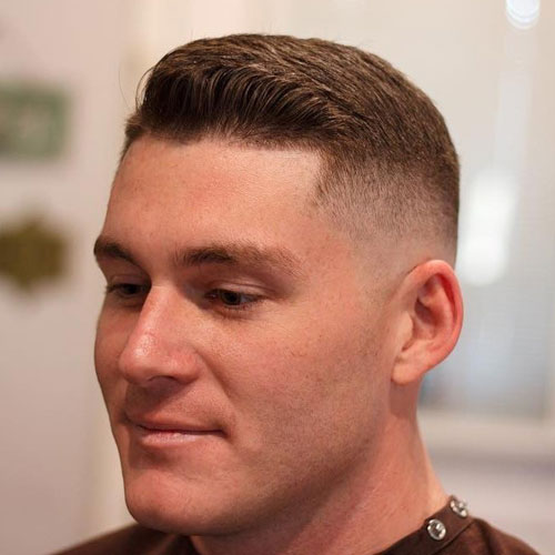 a long high and tight haircut with edge up looks fresh and catchy