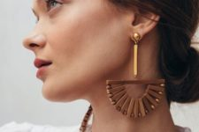 08 statement wood and bead earrings with a catchy boho design for special occasions