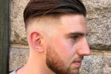 10 a disconnected combed back undercut and a beard is a gorgeous idea for a modern man