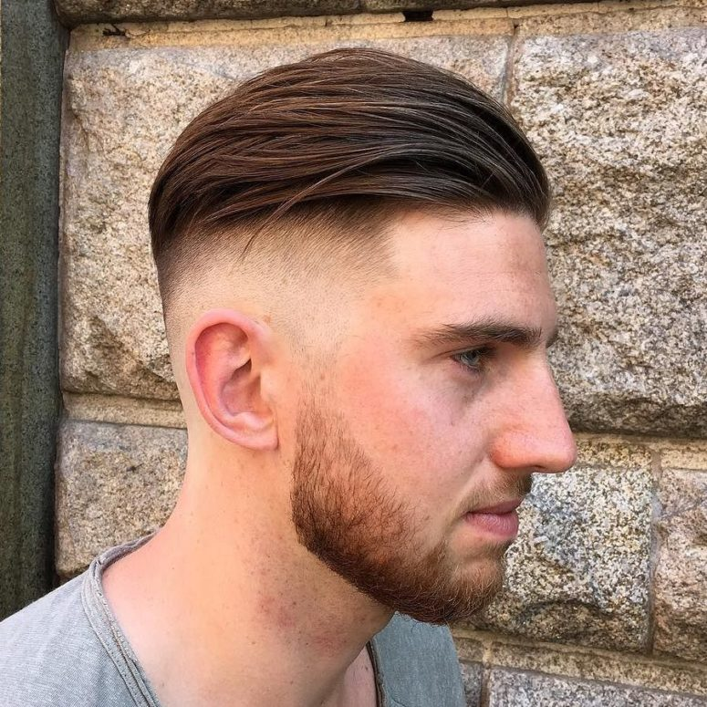 a disconnected combed back undercut and a beard is a gorgeous idea for a modern man