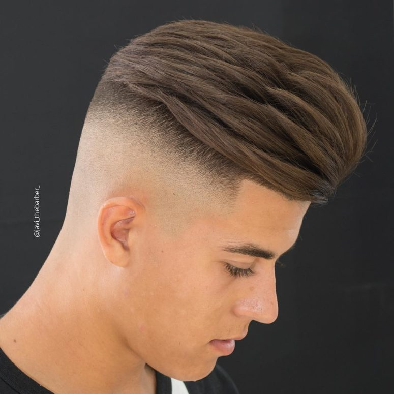 a high skin fade undercut is bold and unique idea but you'll have to style it with a blow dryer