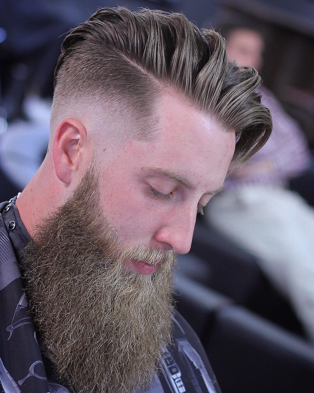this undercut fade hairstyle is another very popular men's hipster haircut, it contrasts dramatically with shaved sides