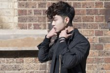 12 a curly pompadour features a long and curly top that contrasts the short sides