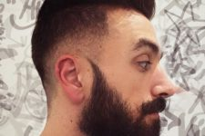12 a high and tight pompadour haircut with a fade and a beard is a hipster-like idea