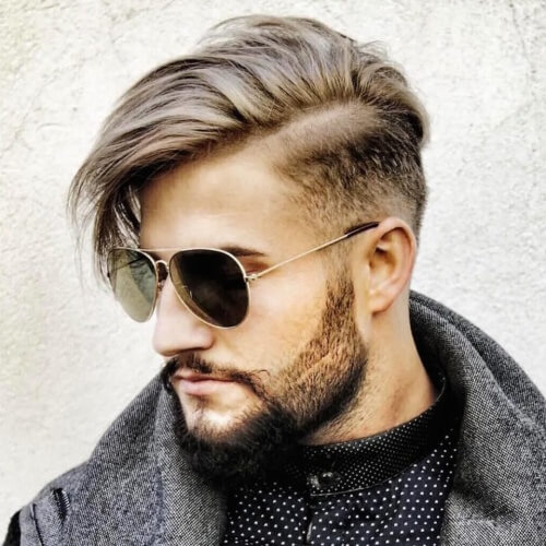 a side swept undercut looks veyr dapper and very modern, you may style it easily