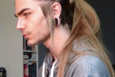 13 make several braids and a long ponytail of your long and straight hair