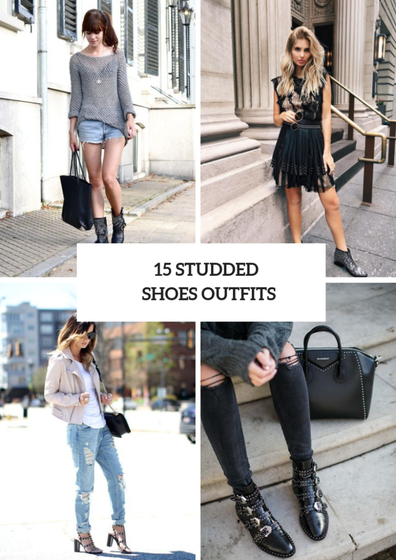 15 Amazing Outfits With Studded Shoes