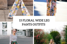15 Gorgeous Looks With Floral Wide Leg Pants