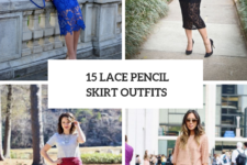 15 Outfits With Lace Pencil Skirts