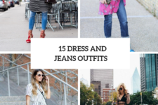 15 Stylish Ways To Wear Dresses Over Jeans
