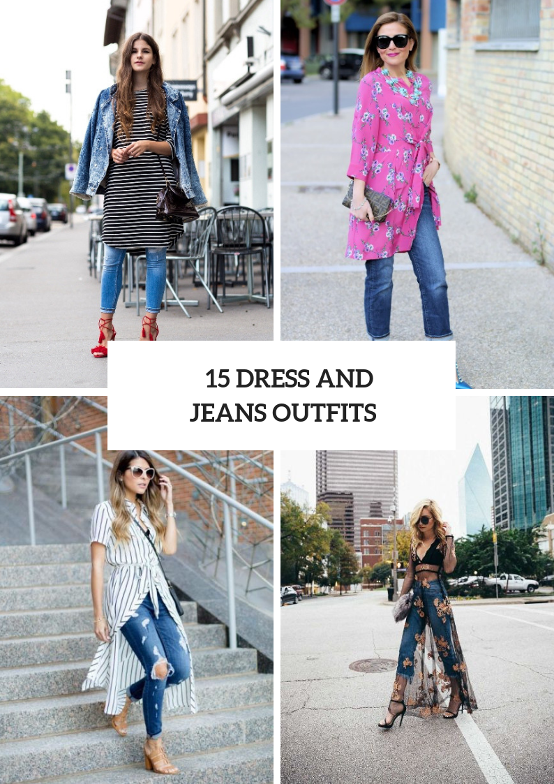 Stylish Ways To Wear Dresses Over Jeans