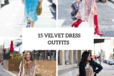 15 Velvet Dress Outfits For This Spring