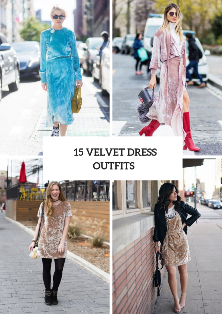15 Velvet Dress Outfits For This Spring