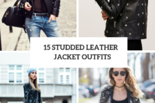 15 Women Outfits With Studded Leather Jackets