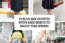 15 plus size outfits with midi skirts to enjoy this spring cover