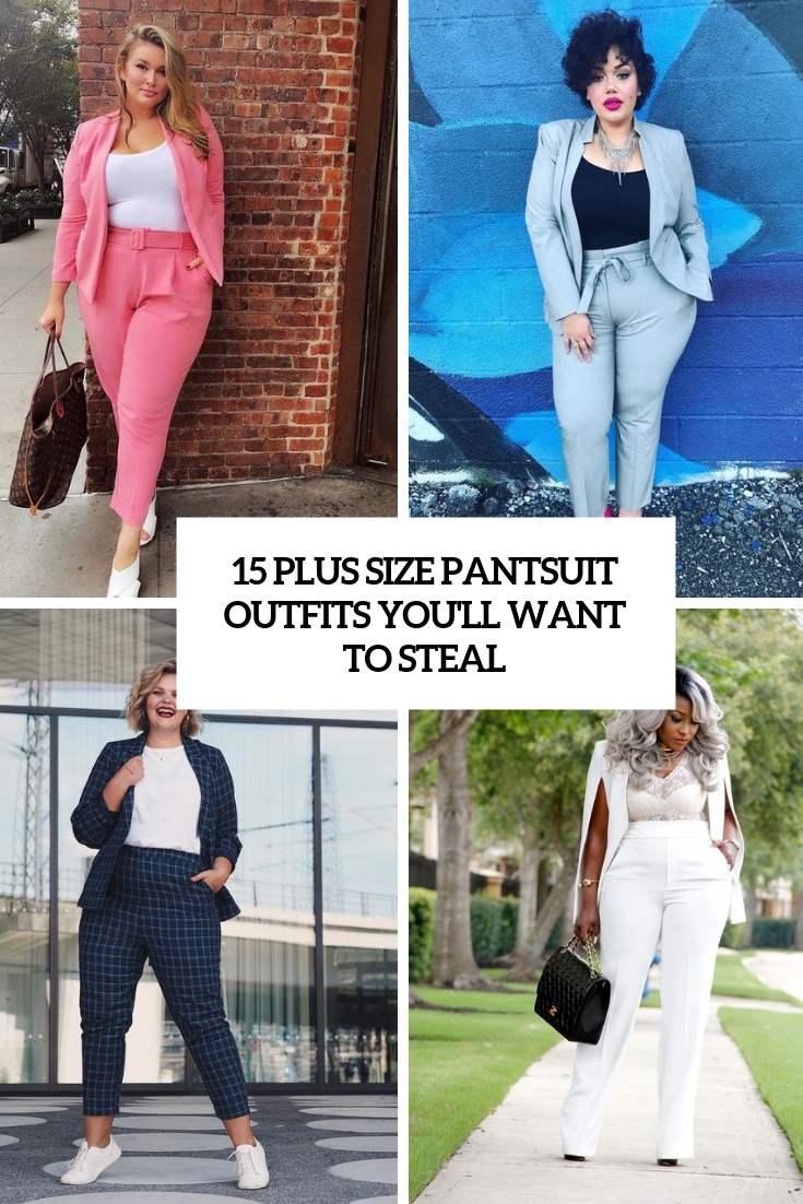 abe379def6 15 Plus Size Pantsuit Outfits You'll Want To Steal