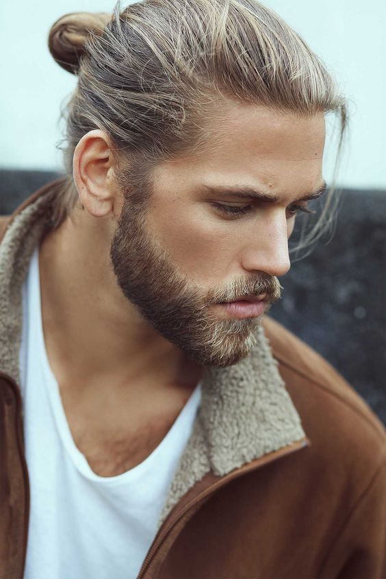 Super Picture Of Wear Your Long Hair In A Man Bun And Add A Beard To Natural Hairstyles Runnerswayorg