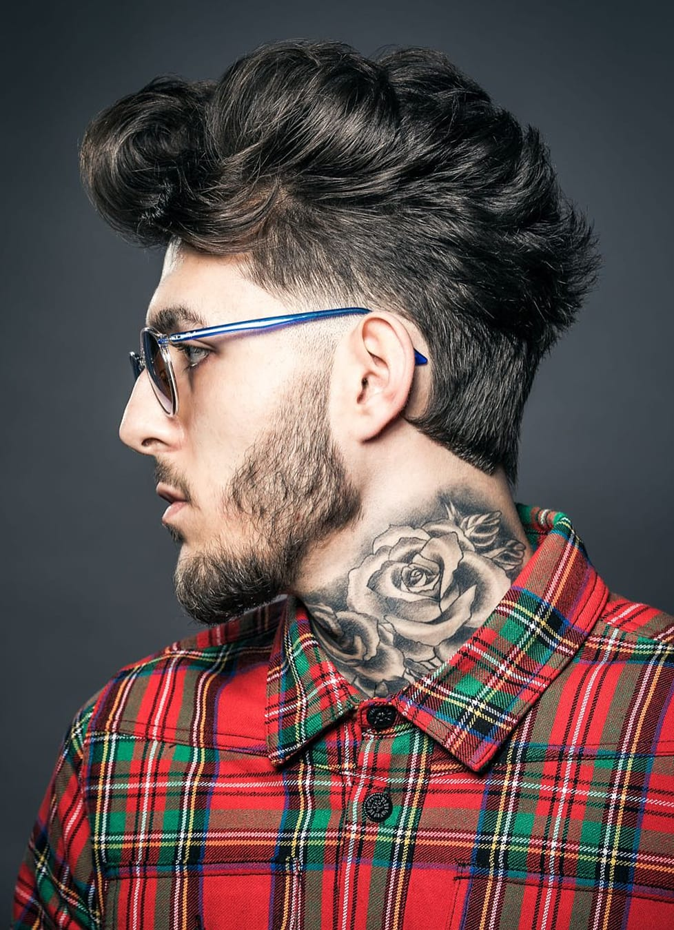 a nice faux hawk hipster hairstyle for a modern man