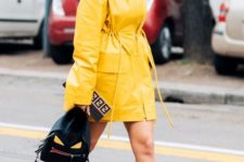 12 a bright yellow raincoat is a chic idea for your trendy spring outfit