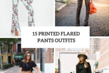 15 Chic Outfits With Printed Flared Pants