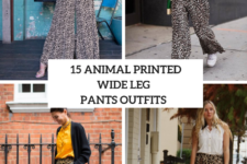 15 Eye-Catching Outfits With Animal Printed Wide Leg Pants