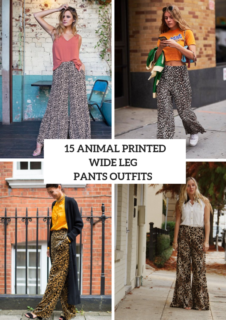 Eye Catching Outfits With Animal Printed Wide Leg Pants
