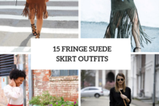 15 Fringe Suede Skirt Outfits For Stylish Ladies