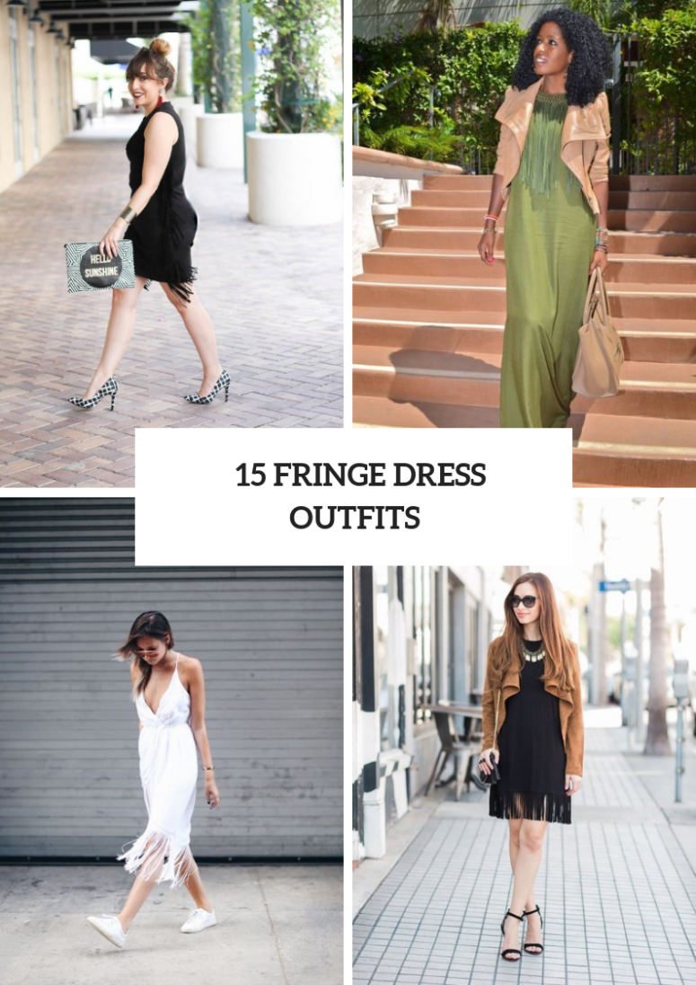 Outfits With Fringe Dresses For This Spring