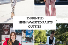 15 Printed High-Waisted Pants Outfits