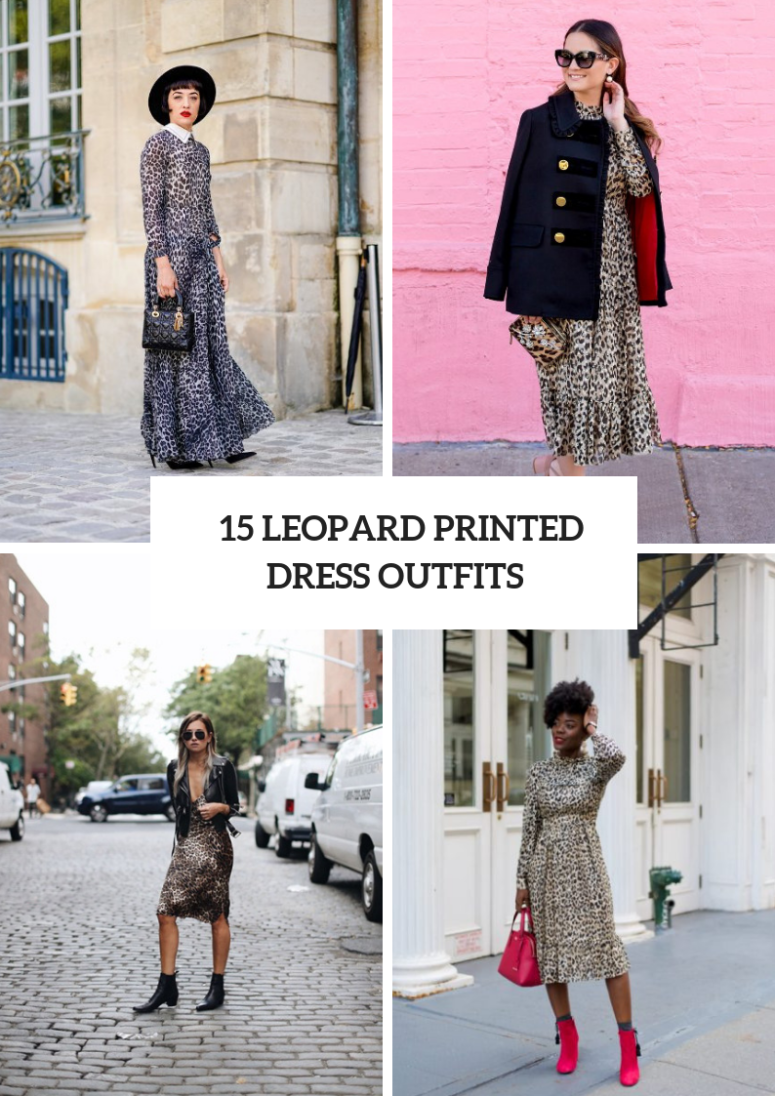 Wonderful Looks With Leopard Printed Dresses