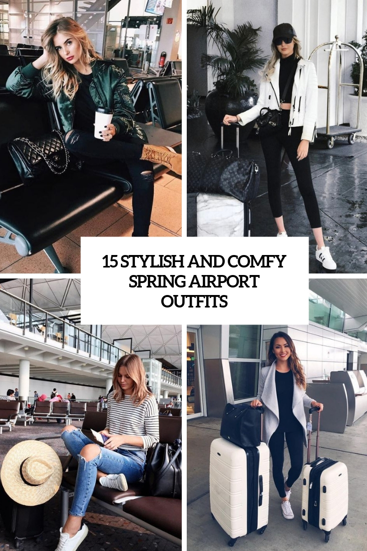 stylish and comfy sprign airport outfits cover