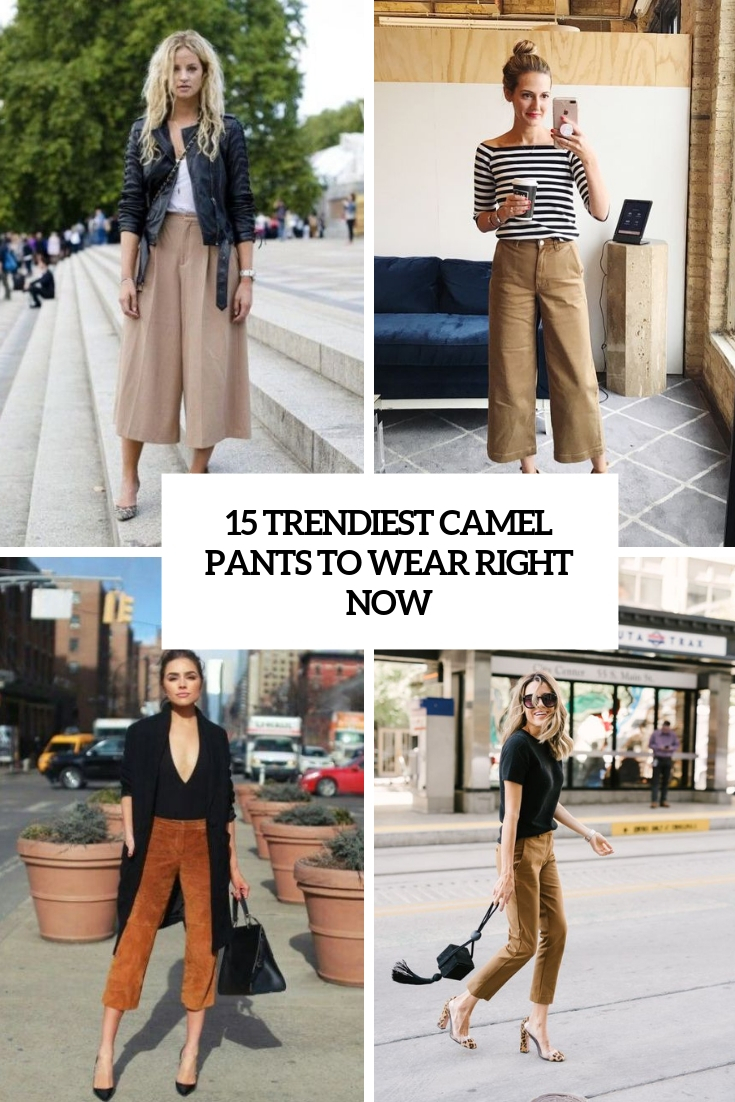 15 Trendiest Camel Pants To Wear Right Now