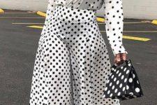 polka dot blouse outfit