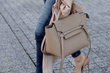 06 a chic neutral leather tote bag with ribbon detailing is a timeless idea that matches many outfits