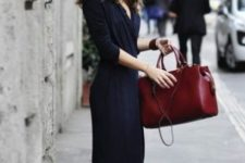 10 a structural burgundy bag is a bold touch to your outfit and a chic feel