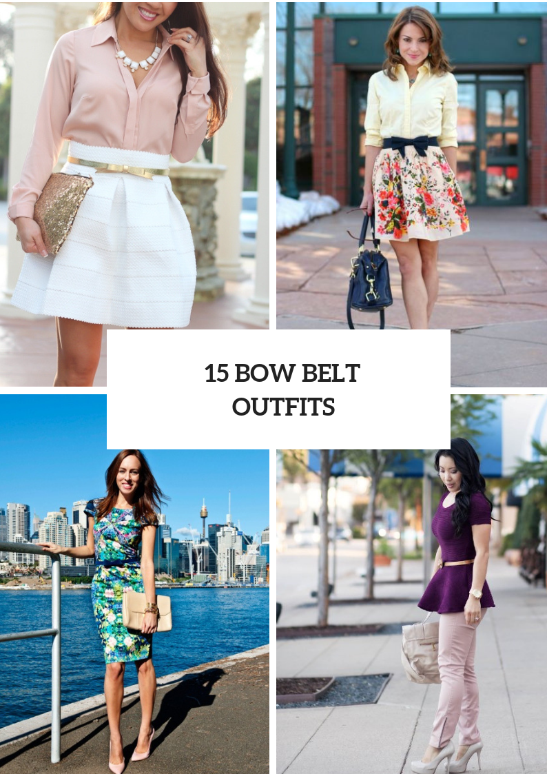 Cool Outfits With Bow Belts