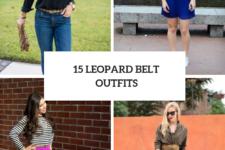 15 Eye-Catching Look Ideas With Leopard Belts