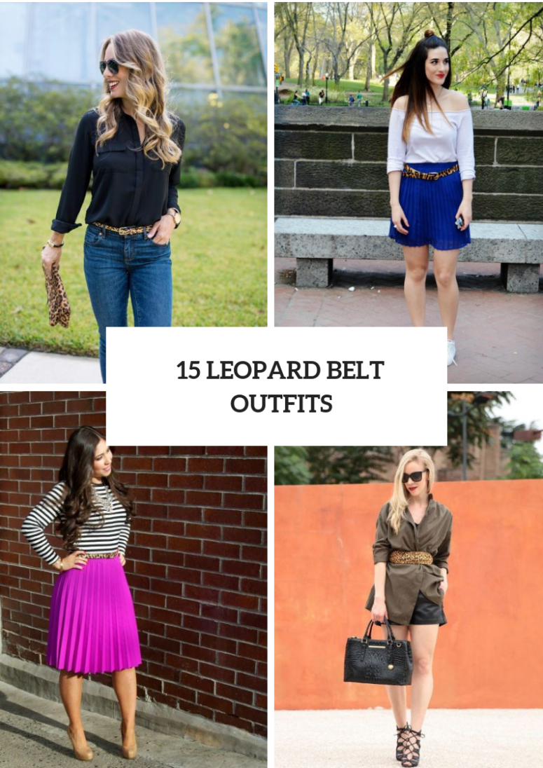 Eye Catching Look Ideas With Leopard Belts