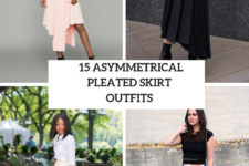 15 Outfits With Asymmetrical Pleated Skirts