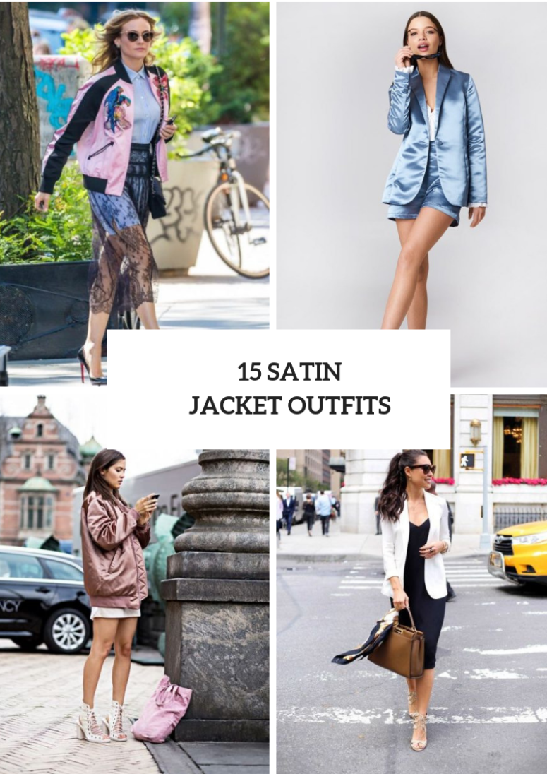 15 Outfits With Satin Jackets For Warm Weather