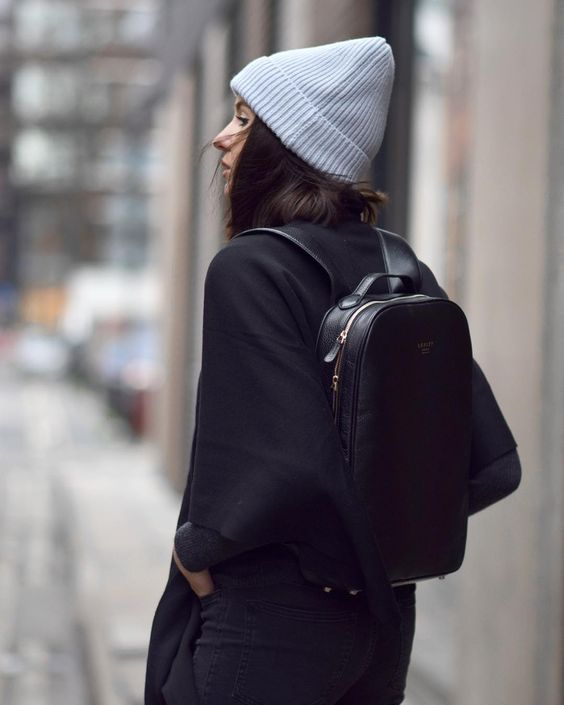 a comfy blakc backpack is classics for any outfit and it will hold a lot of things