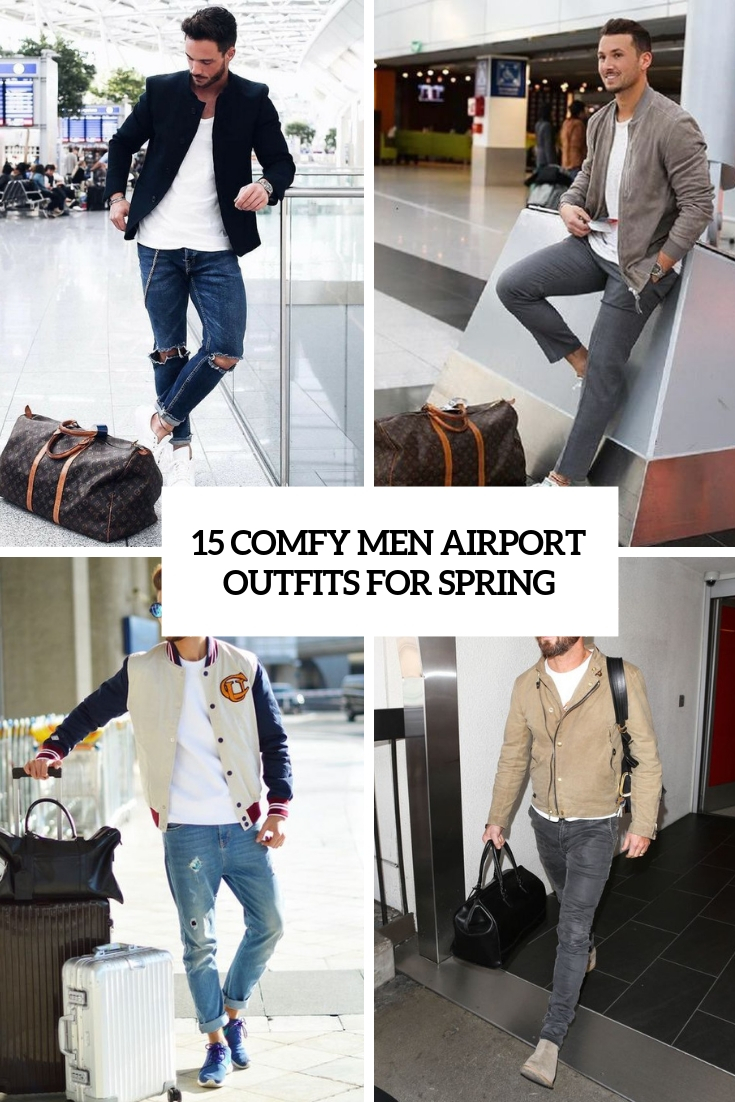 15 Comfy Men Airport Outfits For Spring